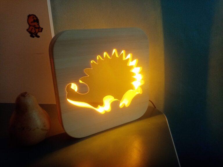 Laser Cut Hedgehog Night Light Cnc Router Plans Free CDR Vectors Art