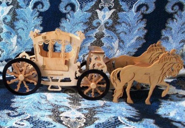 Laser Cut Royal Horse Carriage Horse Cart Free CDR Vectors Art