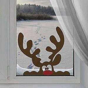 Laser Cutting Deer Window Decor Free CDR Vectors Art