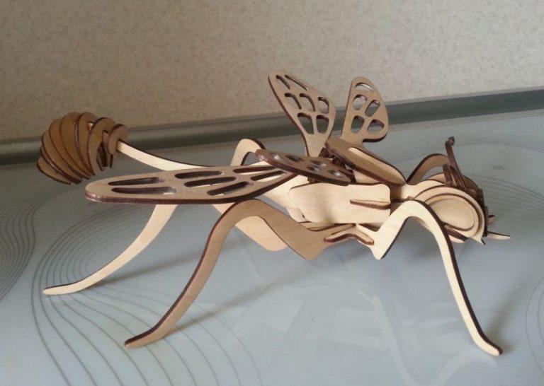 Wasp 3d Model Laser Cut Template Free CDR Vectors Art