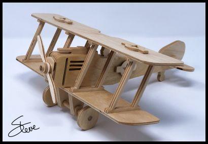 Biplane Plywood Model Free PDF File