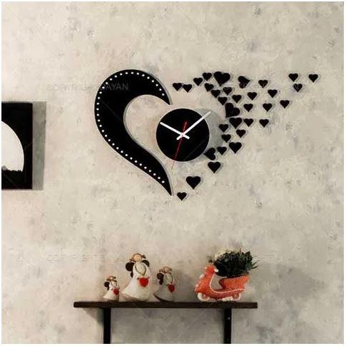 Laser Cut Heart Clock Free CDR Vectors Art