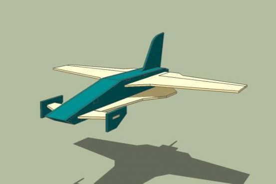 Laser Cut Toy Airplane Model Free CDR Vectors Art