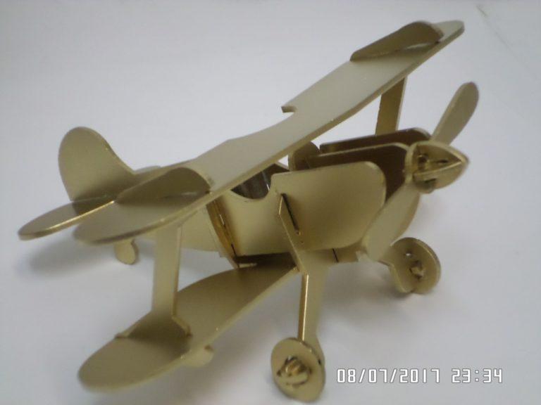 Laser Cut Vintage Retro Aircraft Biplane Plane Aircraft Model Free CDR Vectors Art