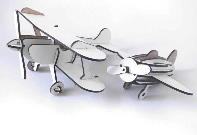 Laser Cut Wooden Toy Small Airplane Template Free CDR Vectors Art