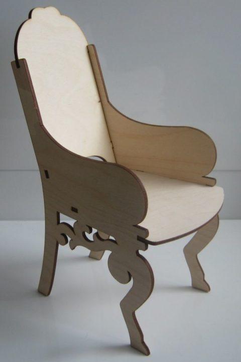 Laser Cut Wooden Chair Furniture Plans Free CDR Vectors Art