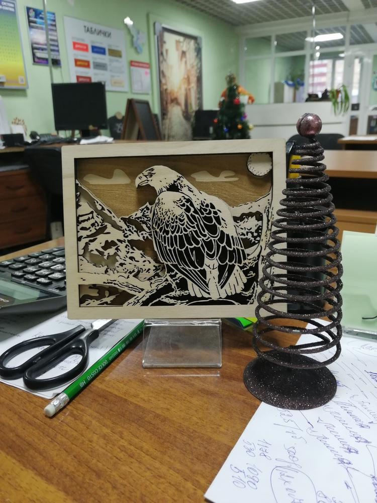 Laser Cut Layered Eagle Drawing Template Free CDR Vectors Art