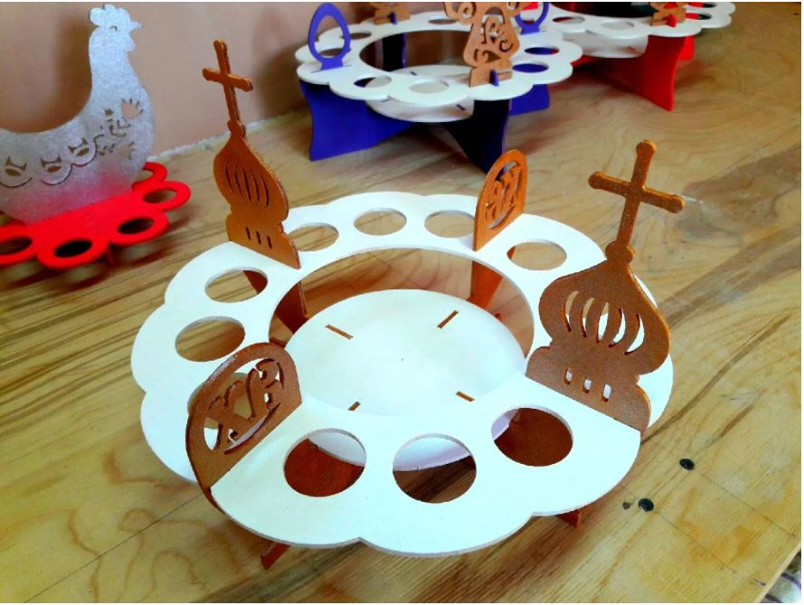 Laser Cut Easter Egg Stand Template Free CDR Vectors Art