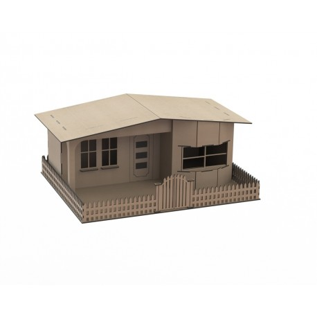 Laser Cut Wooden House Template Free CDR Vectors Art