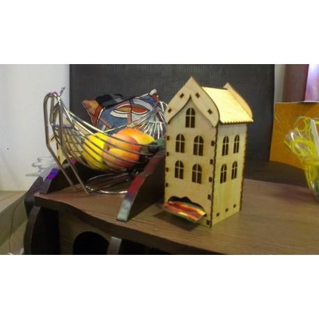 Laser Cut Wooden Tea House Template Free CDR Vectors Art