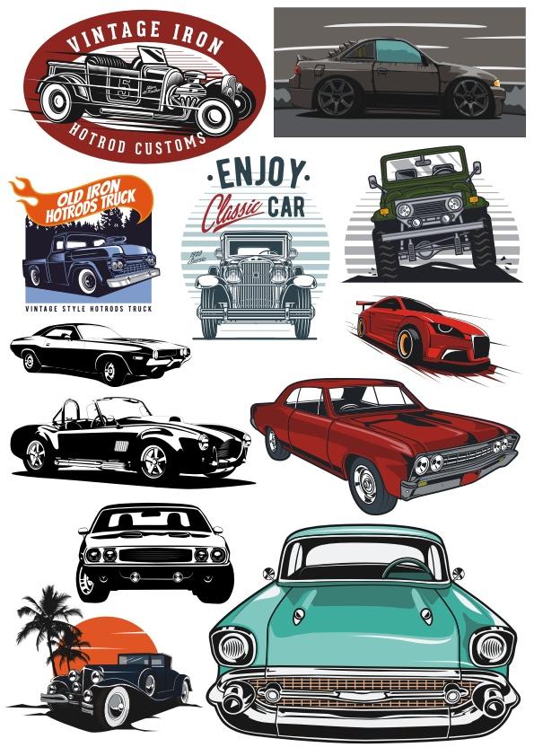 Cars Set Free CDR Vectors Art