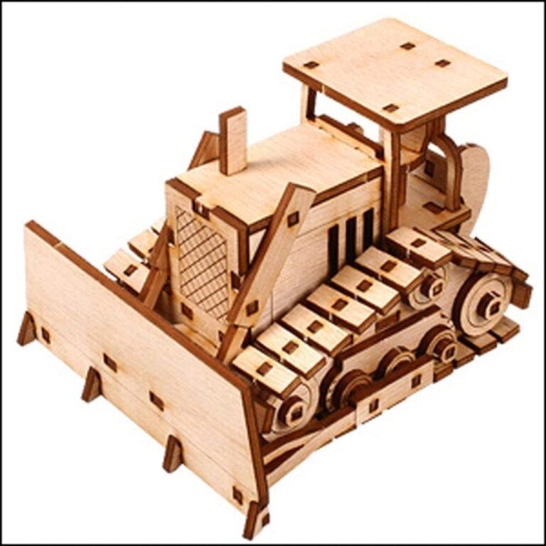 Laser Cut Bulldozer 3d Model Kit Free CDR Vectors Art