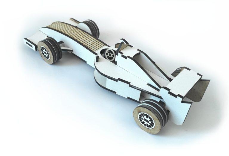 Laser Cut Formula 1 Racing Car Wooden Toy Free CDR Vectors Art