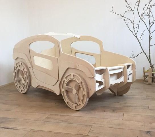 Laser Cut Jeep Bed For Kids Room Free CDR Vectors Art