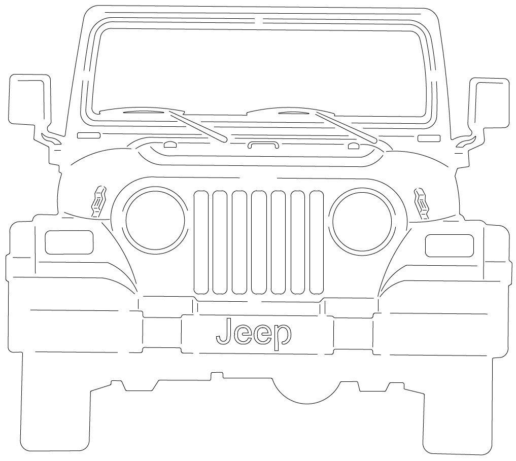 Laser Cut Jeep Layout Free CDR Vectors Art