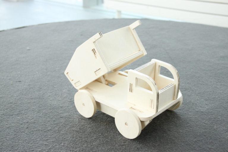 Laser Cut Kids Wooden Toy Truck Free CDR Vectors Art