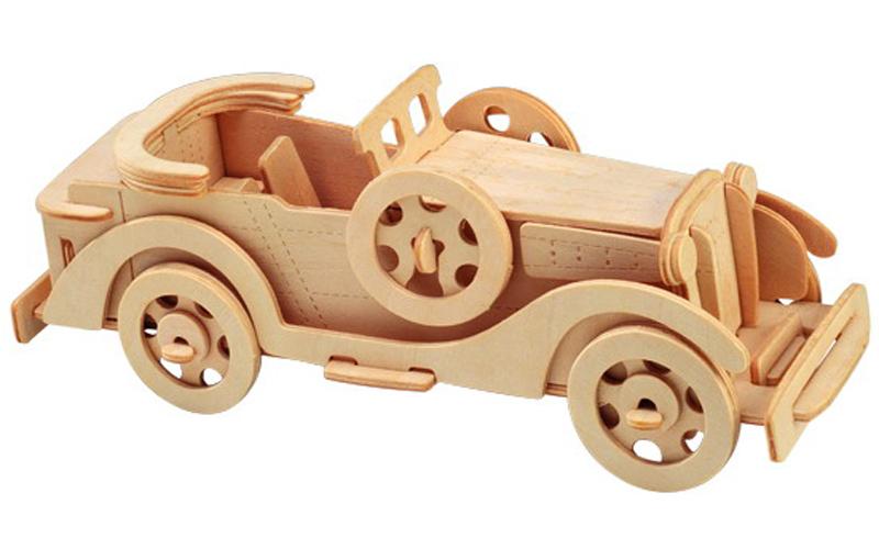 Laser Cut Packard Twelve Car Model 3d Wooden Puzzle Kids Toys Gifts Free CDR Vectors Art