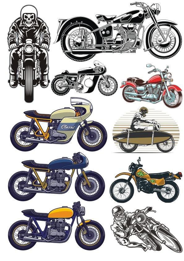 Motobike Set Free CDR Vectors Art