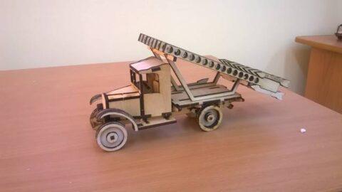 Rocket Launcher Wooden Toy Free CDR Vectors Art
