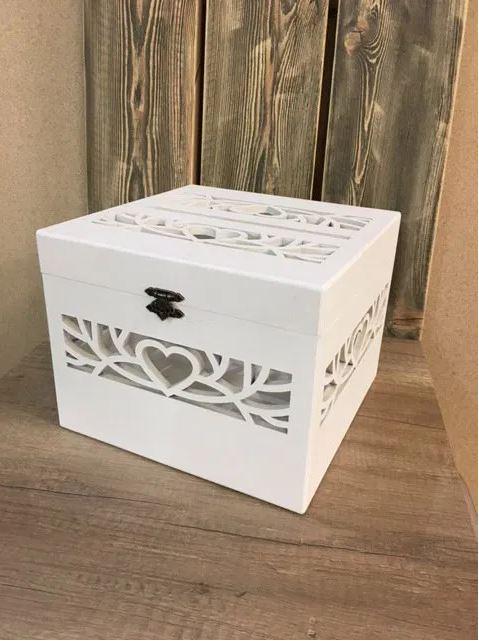 Laser Cut Decorative Wedding Card Box Free CDR Vectors Art