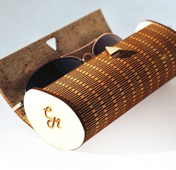Laser Cut Wood Sunglasses Case Free CDR Vectors Art