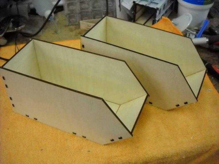 Laser Cut Linbin Containers Storage Bins Free CDR Vectors Art