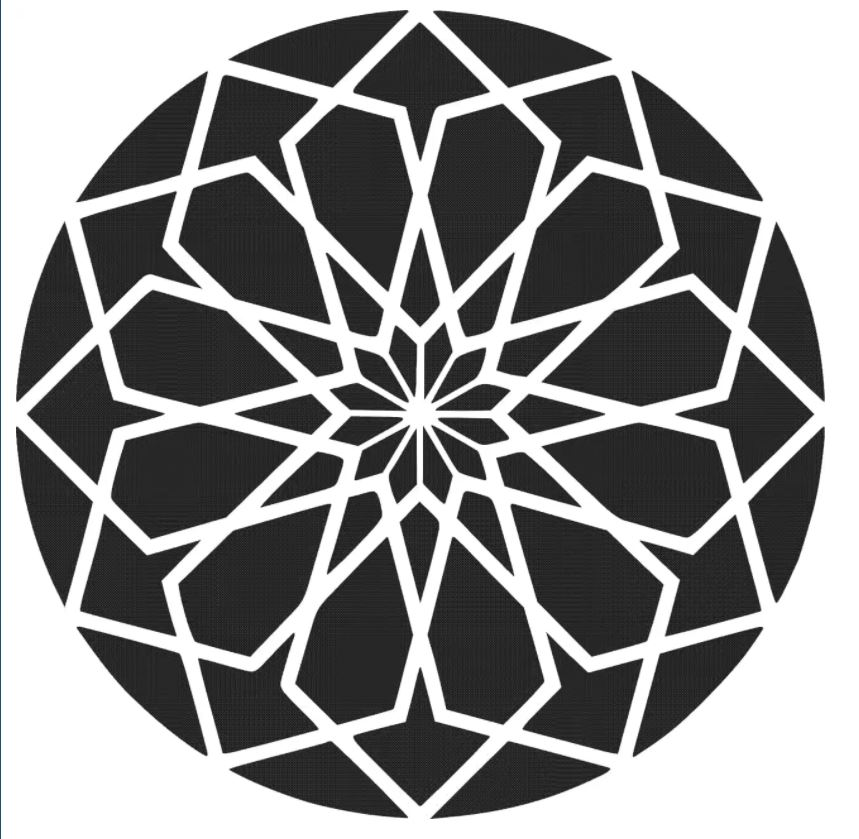 Laser Cut Circular Pattern 4 Free DXF File