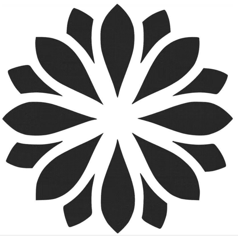 Laser Cut Circular Pattern 6 Free DXF File