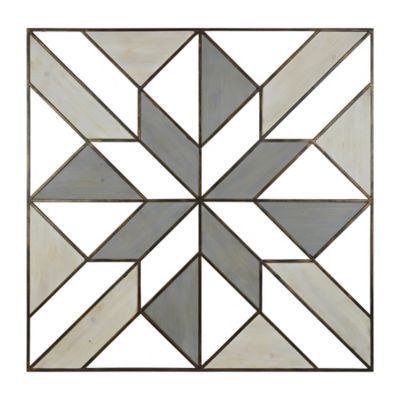 Wood And Metal Geometric Wall Art In Grey White Free DXF File