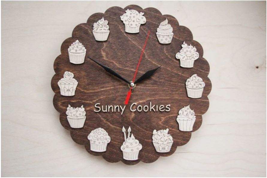 Excellent Delicious Watches For The Kitchen And Cafes Free CDR Vectors Art