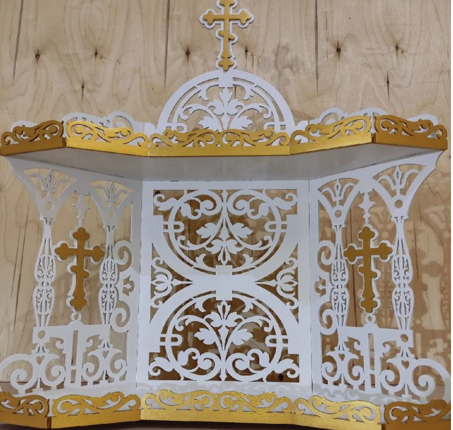 Iconostasis Shelf For Icons 4mm Layout Free CDR Vectors Art