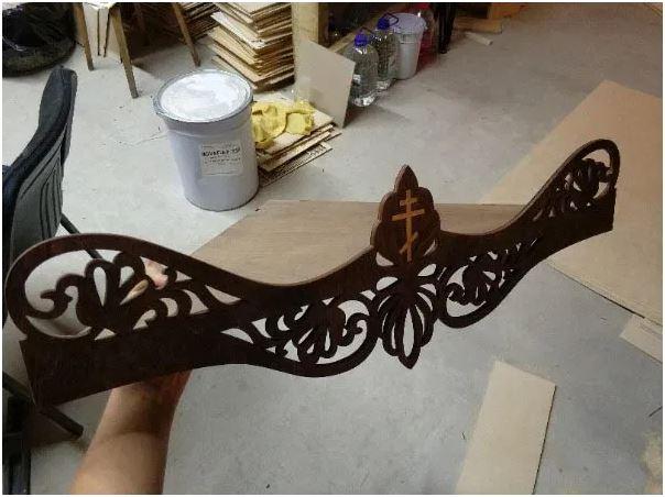 Laser Cut Wooden Shelf Layout Free CDR Vectors Art