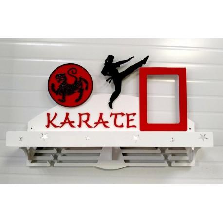 Laser Cut Karate Sport Medal Hanger Free CDR Vectors Art