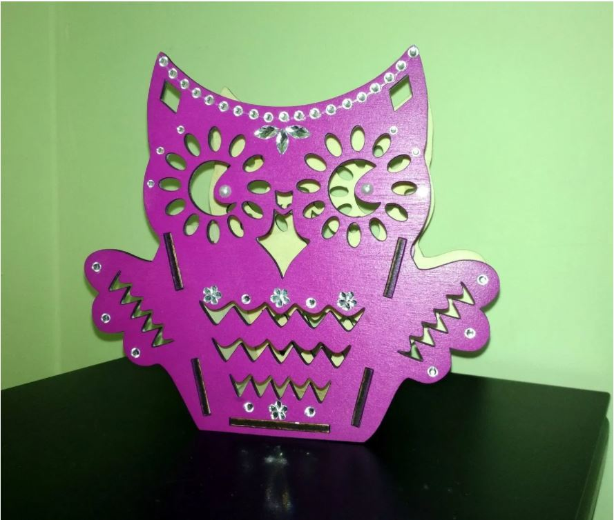 Laser Cut Owl Organizer Layout Free CDR Vectors Art