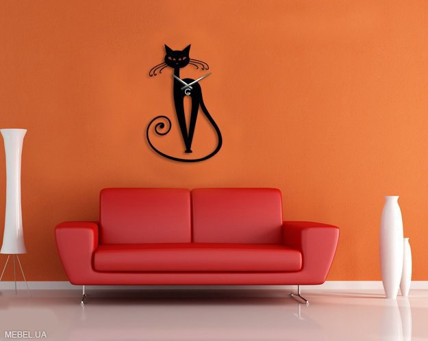 Laser Cut Cat Wall Clock Free CDR Vectors Art
