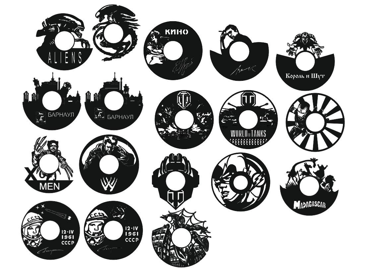 Laser Cut Clocks Collection Free CDR Vectors Art