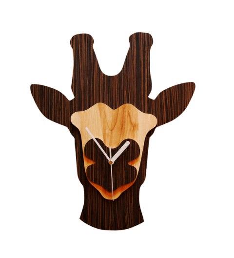 Laser Cut Giraffe Zoo Clock Free CDR Vectors Art