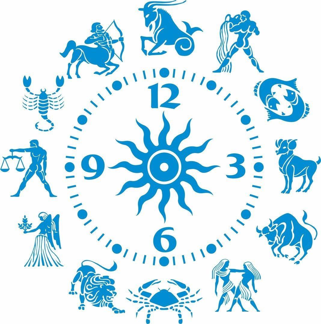 Zodiac Signs Clock Layout Free CDR Vectors Art