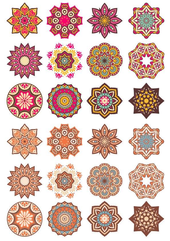 Laser Cut Mandala Doodle Round Ornament Free CDR Vectors Art