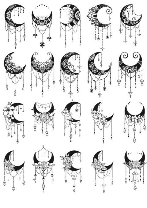 Laser Cut Moon Mandala Decor Free CDR Vectors Art