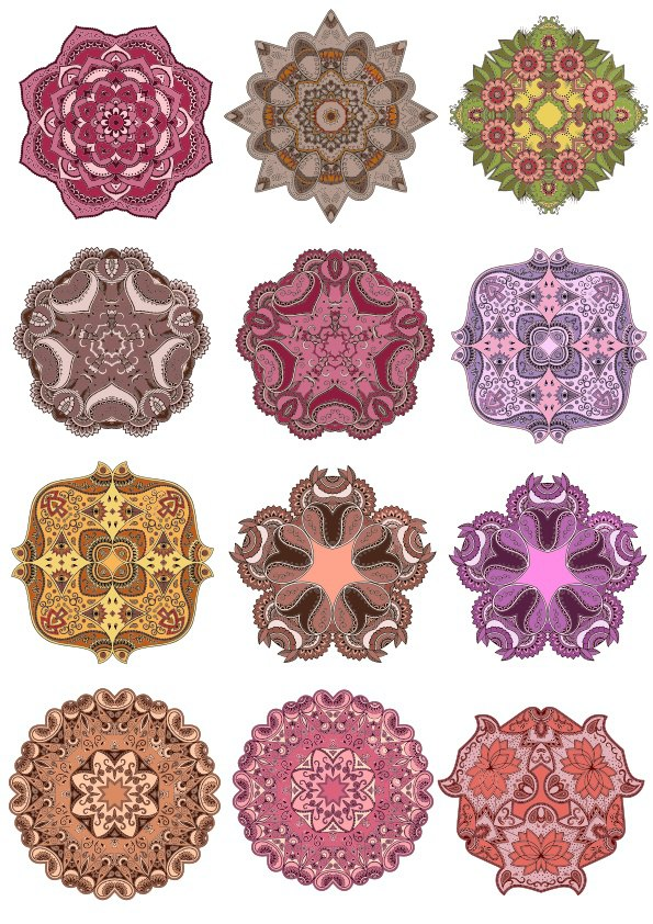 Laser Cut Vector Mandala Ornament Set Free CDR Vectors Art
