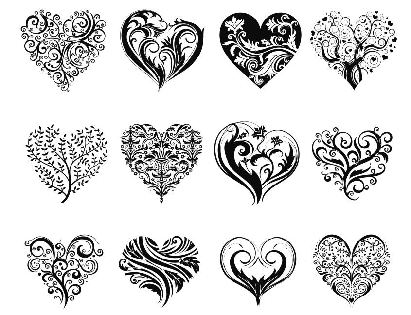 Laser Cut Decorative Heart Vector Art Free CDR Vectors Art