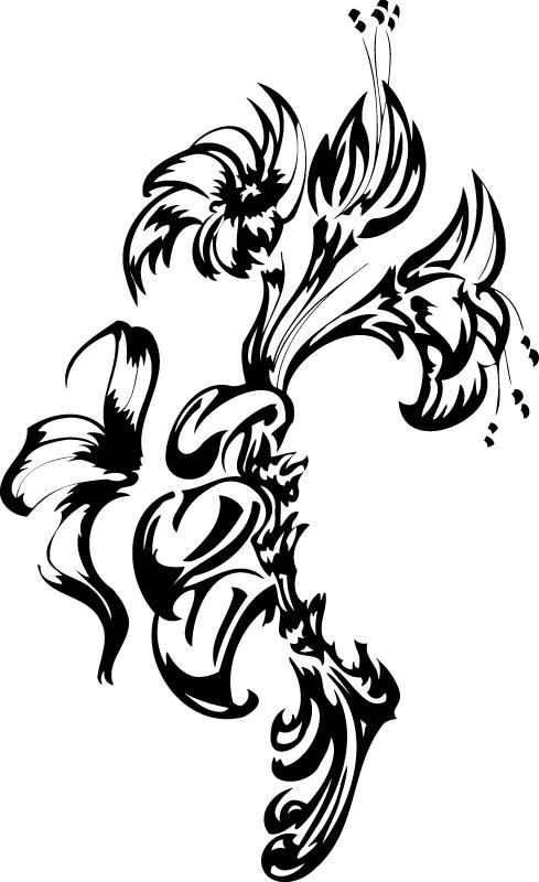 Flowers Tattoo Free AI File