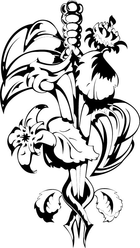 Floral Design Vector Free AI File