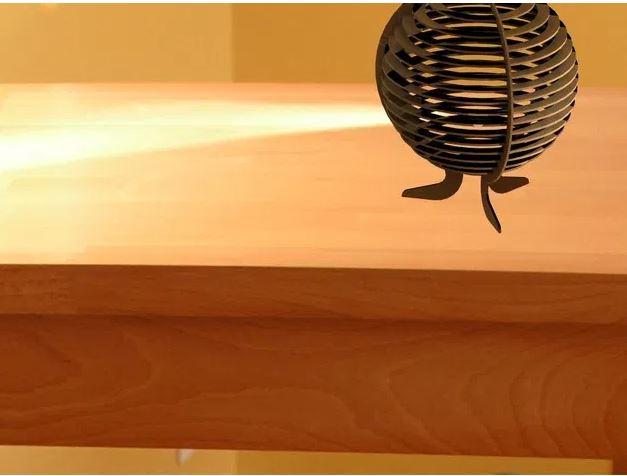 Laser Cut Drawing Kitty Lamp Markiii Template Free DXF File