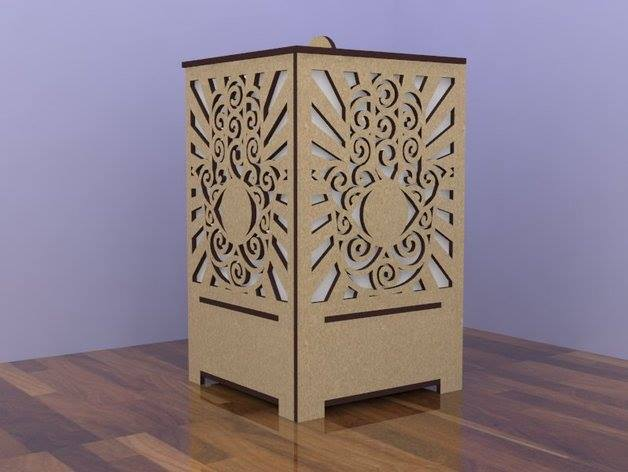 Laser Cutting Wooden Lamp Free DXF File