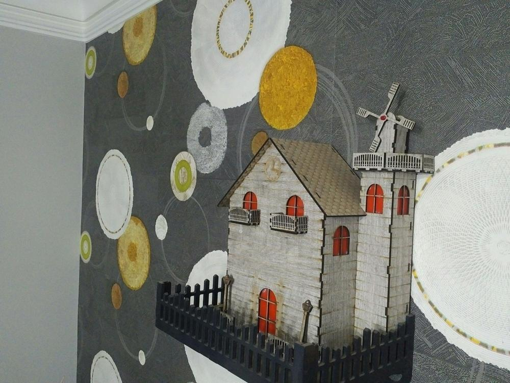 Laser Cut Fort House Free DXF File