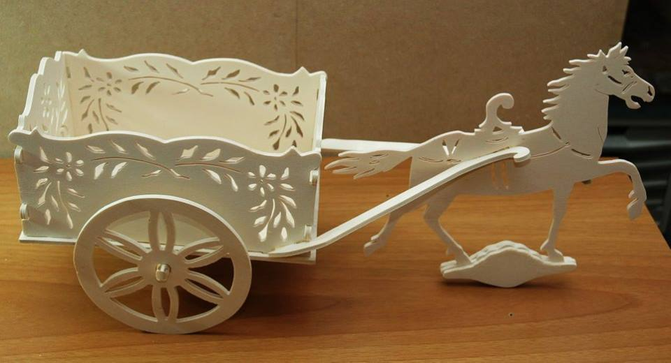 Cart With Horse Laser Cut Scroll Saw Plans Free PDF File