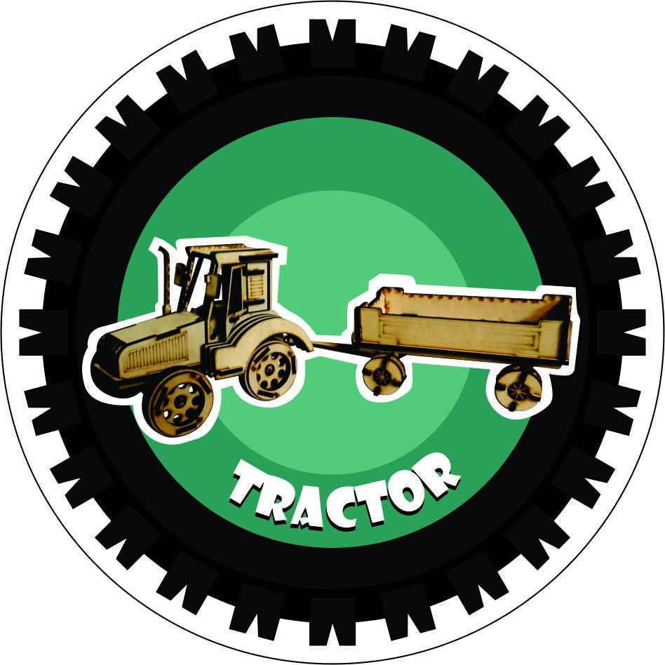 Tractor 3d Laser Cut Free PDF File