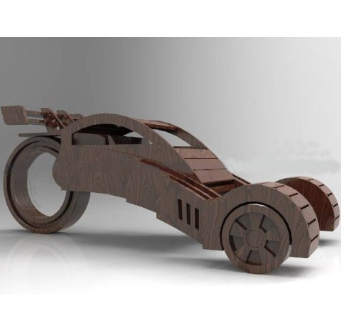 Wooden Concept Car Cnc Cut Free PDF File